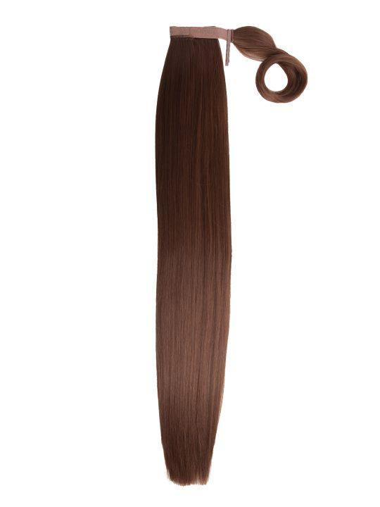 26 Inch Straight Auburn Wraparound Ponytail