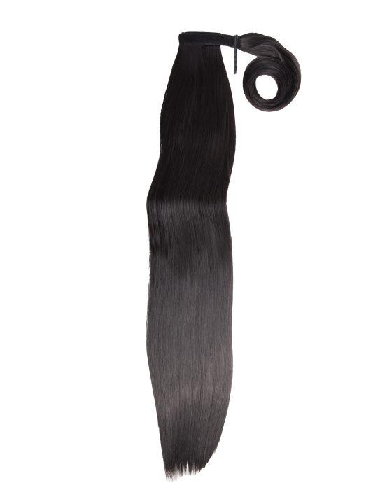 26 Inch Straight Dark Brown Wraparound Ponytail