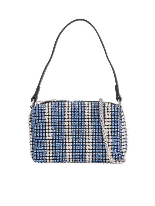 Small Blue Diamante Bag