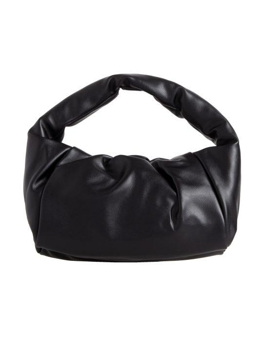 Black Chunky Faux Leather Handbag