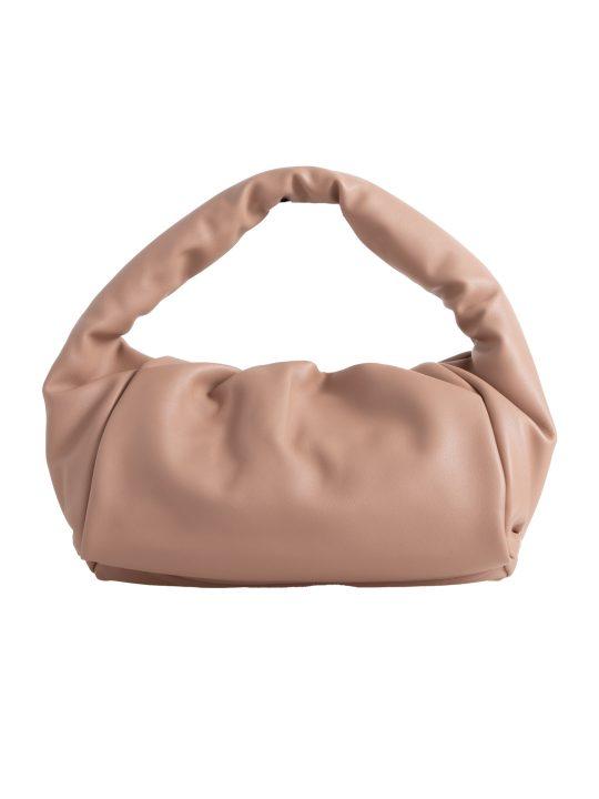 Taupe Chunky Faux Leather Handbag